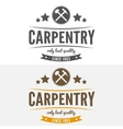 Vintage logo label badge and logotype elements vector image