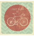 vintage styled poster bicycle vector image vector image