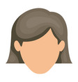 white background of faceless woman with gray short vector image