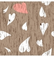 Wooden texture with hearts vector image