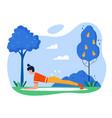 yoga practice sport activity flat vector image vector image