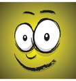 emotions yellow happy vector image