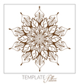 Decorative round ornament Vintage pattern vector image