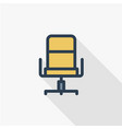 office chair line flat icon vector image