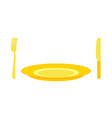 Gold cutlery knife and fork for rich Expensive vector image