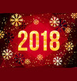 2018 happy new year card golden numbers vector image vector image