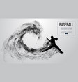 abstract silhouette of a baseball player pitcher vector image