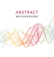 Abstract smooth transparent colorful background vector image vector image