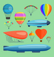 aerostats air balloon transport sky hot fly vector image