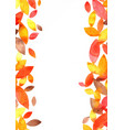 autumn leaves watercolor grunge frame background vector image vector image