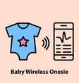 baby wireless onesie vector image vector image