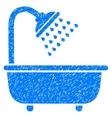 Bath Shower Grainy Texture Icon vector image vector image