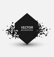 black explosion abstract geometric background vector image vector image