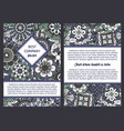 brochure with floral seamless pattern vector image vector image