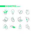 business and marketing - modern line isometric vector image