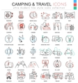 camping nature adventure ultra modern color vector image vector image