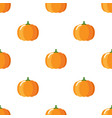 cartoon cute pumpkin on white background seamless vector image vector image