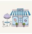 cartoon street cafe vector image