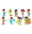 character children rejoice and playing set vector image vector image
