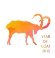 Chinese New Year 2015 goat with golden geometric vector image vector image