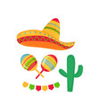 cinco de mayo 5th may sombrero maracas cactus vector image vector image