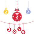 colored christmas ball christmas ornaments vector image vector image
