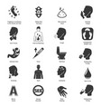 Common symptoms icons set vector image