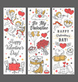 cupids with love arrows and hearts valentines day vector image vector image
