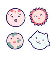 cute cartoon planets with faces vector image