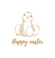 easter easter chicken easter eggs vector image
