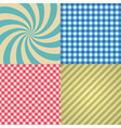 four types of retro texture and patterns eps10 vector image vector image