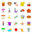 fun place icons set cartoon style vector image vector image