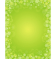 green patricks day background with shamrocks vector image