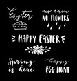 happy easter lettering set handwritten chalk vector image vector image