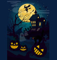 horror house and pumpkin vector image vector image