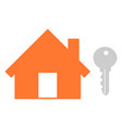 house key unlock house isolated mortgage vector image