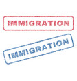 immigration textile stamps vector image vector image