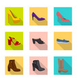 isolated object of footwear and woman logo vector image