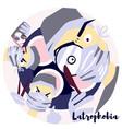 latrophobia vector image