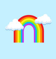 lgbt rainbow in clouds symbol icon vector image