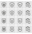 line home security icon set vector image vector image