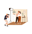 love story photoshoot session family photographer vector image vector image