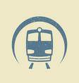 metro icon flat vector image vector image