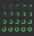 Modern circle progress bar icon set