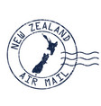 new zealand air mail grunge rubber stamp vector image