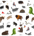 north america animals seamless pattern vector image