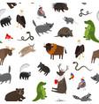 north america animals seamless pattern vector image