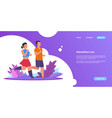 people run landing sporty woman and man running vector image