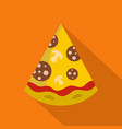 pizza slice icon flat style vector image vector image