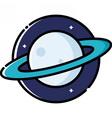 Planet Saturn vector image